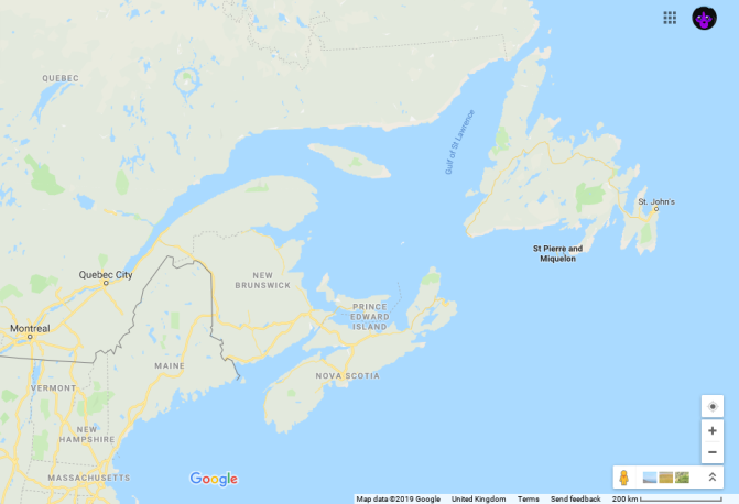 Our Route Plan Through Eastern Canada