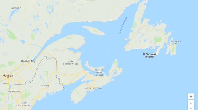 Our Route Plan Through Eastern Canada